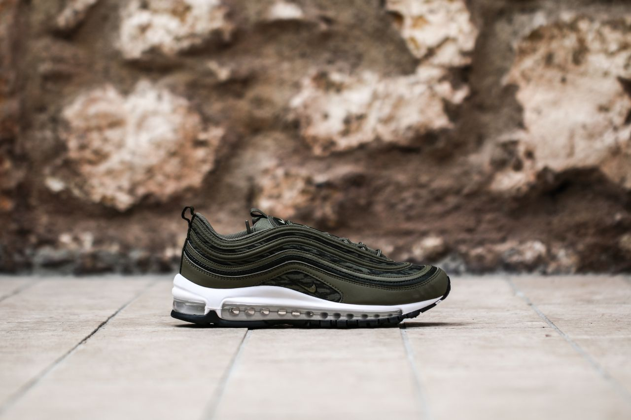 Air Max 97 All Over Print Black Red in 2019 Air Pinterest